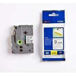 Utángyártott szalag Brother TZ-S121/TZe-S121 9mm x 8m erősen ragadó, fekete nyomtatás/ átlátszó alapon