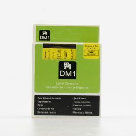 Utángyártott szalag Dymo 53718, S0720980, 24mm x 7m, fekete nyomtatás / sárga alapon