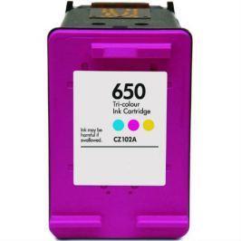 HP 650 XL CZ102A színes utángyártott tintapatron