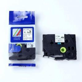Utángyártott szalag Brother HSe-221 8,8mm x 1,5m, fekete nyomtatás / fehér alapon