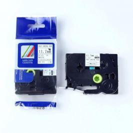 Utángyártott szalag Brother HSe-231 11,7mm x 1,5m, fekete nyomtatás / fehér alapon