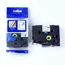 Utángyártott szalag Brother HSe-241 17,7mm x 1,5m, fekete nyomtatás / fehér alapon