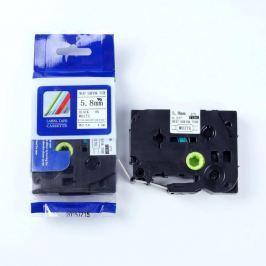 Utángyártott szalag Brother HSe-211 5,8mm x 1,5m, fekete nyomtatás / fehér alapon