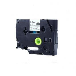 Utángyártott szalag Brother HSe-121 8,8mm x 1,5m, fekete nyomtatás / átlátszó alapon