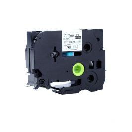 Utángyártott szalag Brother HSe-141 17,7mm x 1,5m, fekete nyomtatás / átlátszó alapon