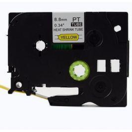 Utángyártott szalag Brother HSe-621 8,8mm x 1,5m, fekete nyomtatás / sárga alapon