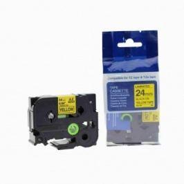 Utángyártott szalag Brother HSe-651 23,7mm x 1,5m, fekete nyomtatás / sárga alapon