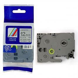 Utángyártott szalag Brother TZ-M931 / TZe-M931, 12mm x 8m, fekete nyomtatás / ezüst alapon