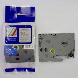 Utángyártott szalag Brother TZ-M941 / TZe-M941, 18mm x 8m, fekete nyomtatás / ezüst alapon