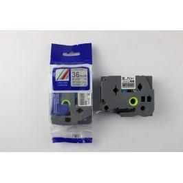 Utángyártott szalag Brother TZ-M961 / TZe-M961, 36mm x 8m, fekete nyomtatás / ezüst alapon