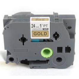 Utángyártott szalag Brother TZ-851 / TZe-851, 24mm x 8m, fekete nyomtatás / arany alapon