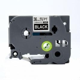 Utángyártott szalag Brother TZ-365 / TZe-365, 24mm x 8m, fehér nyomtatás / fekete alapon