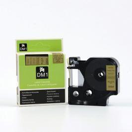Utángyártott szalag Dymo 45023, 12mm x 7m fekete nyomtatás / arany alapon