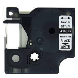 Utángyártott szalag Dymo 18053, S0718280, 9mm x 1,5m fekete nyomtatás / fehér alapon