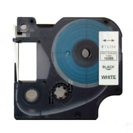 Utángyártott szalag Dymo 18055, S0718300, 12mm x 1,5m fekete nyomtatás / fehér alapon
