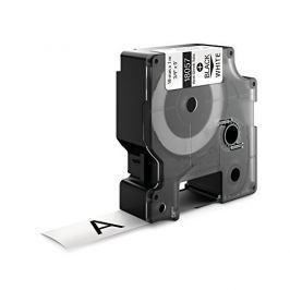 Utángyártott szalag Dymo 18057, S0718330, 19mm x 1,5m fekete nyomtatás / fehér alapon