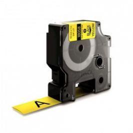 Utángyártott szalag Dymo 18058, S0718340, 19mm x 1,5m fekete nyomtatás / sárga alapon