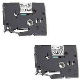 Utángyártott szalag Brother TZ-S161/TZe-S161, 36mm x 8m, erősen ragadó, fekete nyomtatás / átlátszó alapon