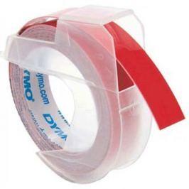 Dymo S0898150, 9mm x 3m, fehér nyomtatás / piros alapon, eredeti szalag