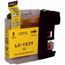 Brother LC-123 sárga (yellow) utángyártott tintapatron