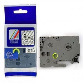 Utángyártott szalag Brother TZ-121 / TZe-121, 9mm x 8m, fekete nyomtatás / átlátszó alapon
