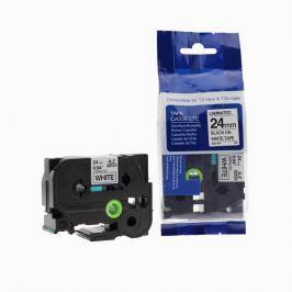 Utángyártott szalag Brother TZ-251 / TZe-251, 24mm x 8m, fekete nyomtatás / fehér alapon