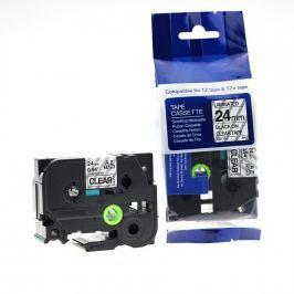 Utángyártott szalag Brother TZ-151 / TZe-151, 24mm x 8m, fekete nyomtatás / átlátszó alapon