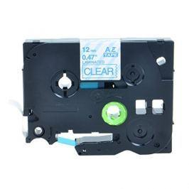 Utángyártott szalag Brother TZ-133 / TZe-133, 12mm x 8m, kék nyomtatás / átlátszó alapon