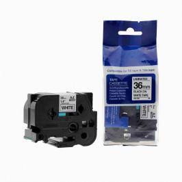 Utángyártott szalag Brother TZ-261 / TZe-261, 36mm x 8m, fekete nyomtatás / fehér alapon