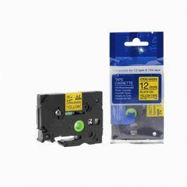 Utángyártott szalag Brother TZ-S631/TZe-S631 12mm x 8m erősen ragadó, fekete nyomtatás/sárga alapon