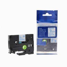 Utángyártott szalag Brother TZ-223 / TZe-223, 9mm x 8m, kék nyomtatás / fehér alapon Utángyártott szalagok