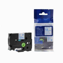 Utángyártott szalag Brother TZ-243 / TZe-243, 18mm x 8m, kék nyomtatás / fehér alapon