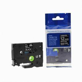 Utángyártott szalag Brother TZ-335 / TZe-335, 12mm x 8m, fehér nyomtatás / fekete alapon