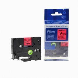 Utángyártott szalag Brother TZ-421 / TZe-421, 9mm x 8m, fekete nyomtatás / piros alapon