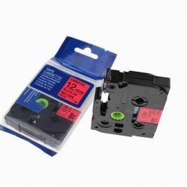 Utángyártott szalag Brother TZ-431 / TZe-431, 12mm x 8m, fekete nyomtatás / piros alapon