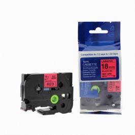 Utángyártott szalag Brother TZ-441 / TZe-441, 18mm x 8m, fekete nyomtatás / piros alapon