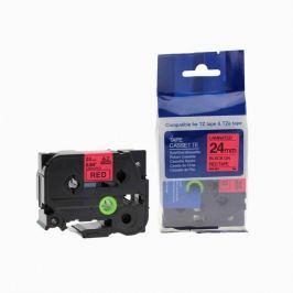 Utángyártott szalag Brother TZ-451 / TZe-451, 24mm x 8m, fekete nyomtatás / piros alapon