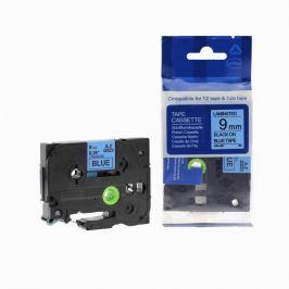 Utángyártott szalag Brother TZ-521 / TZe-521, 9mm x 8m, fekete nyomtatás / kék alapon