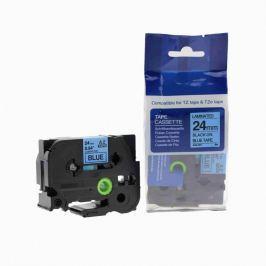 Utángyártott szalag Brother TZ-551 / TZe-551, 24mm x 8m, fekete nyomtatás / kék alapon