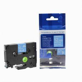 Utángyártott szalag Brother TZ-535 / TZe-535, 12mm x 8m, fehér nyomtatás / kék alapon