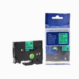 Utángyártott szalag Brother TZ-731 / TZe-731, 12mm x 8m, fekete nyomtatás / zöld alapon Utángyártott szalagok