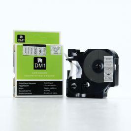 Utángyártott szalag Dymo 45010, S0720500, 12mm x 7m fekete nyomtatás / átlátszó alapon