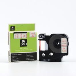 Utángyártott szalag Dymo 45012, S0720520, 12mm x 7m piros nyomtatás / átlátszó alapon