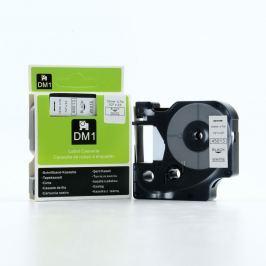 Utángyártott szalag Dymo 45013, S0720530, 12mm x 7m fekete nyomtatás / fehér alapon