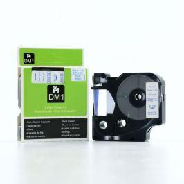 Utángyártott szalag Dymo 45014, S0720540, 12mm x 7m kék nyomtatás / fehér alapon