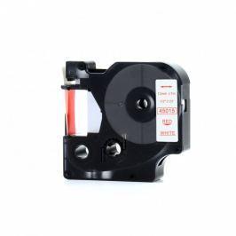 Utángyártott szalag Dymo 45015, S0720550, 12mm x 7m piros nyomtatás / fehér alapon