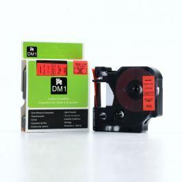 Utángyártott szalag Dymo 45017, S0720570, 12mm x 7m fekete nyomtatás / piros alapon