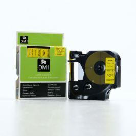 Utángyártott szalag Dymo 45018, S0720580, 12mm x 7m, fekete nyomtatás / sárga alapon