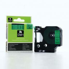 Utángyártott szalag Dymo 45019, S0720590, 12mm x 7m fekete nyomtatás / zöld alapon