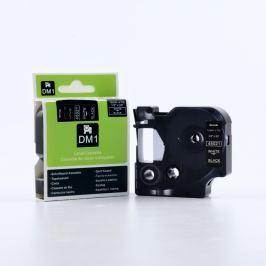 Utángyártott szalag Dymo 45021, S0720610, 12mm x 7m fehér nyomtatás / fekete alapon